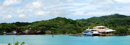 洪都拉斯海岛全景 免版税库存图片