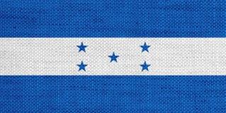 洪都拉斯的旗子老亚麻布的 免版税库存图片