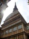 都灵的低部看见的痣的大厦,城市的标志 意大利 库存图片