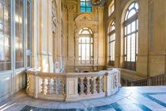 都灵,山麓,意大利, 2016年1月06日 宫殿Madama,著名p 免版税库存照片