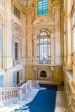 都灵,山麓,意大利, 2016年1月06日 宫殿Madama,著名p 免版税库存图片