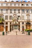 都灵,意大利- 2017年8月19日 温琴佐Gioberti a雕象  图库摄影