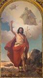 都灵,意大利- 2017年3月13日:圣约翰绘画浸礼会教友在中央寺院Rodolfo Morgari 库存照片