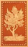 都灵-天花板符号壁画树在一点教堂卡佩拉Pinardi里-唐博斯科第一个教堂Salesians的创建者 库存照片