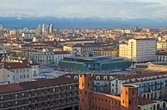 都灵(托里诺),波尔塔Palazzo 免版税库存图片
