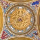 都灵-西部天主教会Athanas,奥古斯汀,热罗姆,教会基耶萨二圣马西莫的利奥圆屋顶的四位医生壁画  库存图片