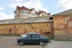 鄂木斯克堡垒建筑和历史复合体  大教堂鄂木斯克uspensky正统的俄国 库存图片