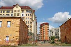 鄂木斯克堡垒建筑和历史复合体  大教堂鄂木斯克uspensky正统的俄国 免版税库存照片