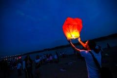鄂木斯克,俄罗斯- 2012年6月16日:中国灯笼节日  免版税库存图片