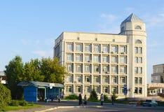 鄂木斯克,俄罗斯- 2011年9月13日:康复中心'Omckiy'大厦  库存图片
