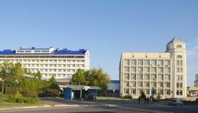 鄂木斯克,俄罗斯- 2011年9月13日:康复中心'Omckiy' 图库摄影