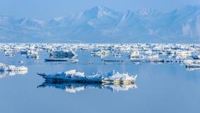鄂霍次克海的海岸在春天 免版税库存图片