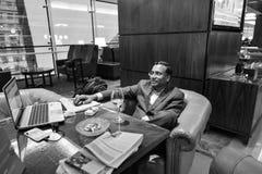 酋长管辖区业务分类休息室内部 免版税图库摄影