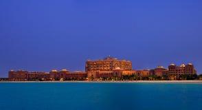 酋长管辖区华园大饭店,阿布扎比的最专属的旅馆 库存照片