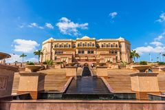 酋长管辖区宫殿,阿布扎比,阿联酋 图库摄影