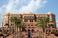 酋长管辖区宫殿-阿布扎比,阿拉伯联合酋长国 免版税库存图片