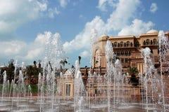 酋长管辖区宫殿-阿布扎比,阿拉伯联合酋长国 图库摄影