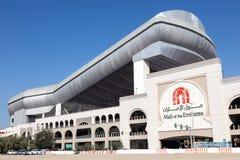 酋长管辖区的购物中心与滑雪迪拜的 免版税库存图片