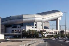 酋长管辖区的购物中心与滑雪迪拜的 免版税库存照片
