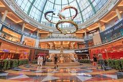 酋长管辖区的购物中心在迪拜,阿拉伯联合酋长国 库存图片