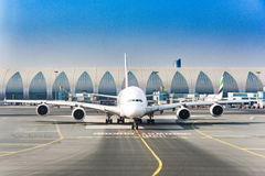 酋长管辖区空中客车杜拜机场 库存图片