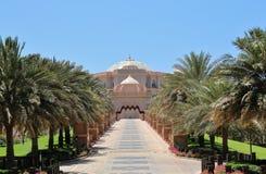 酋长管辖区从VIP门的宫殿视图 免版税库存照片