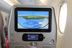 酋长管辖区A380-800内部 图库摄影