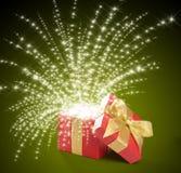 配件箱。 魔术礼品 免版税库存图片