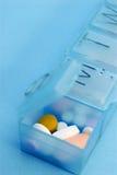 配件箱使药片规定服麻醉剂 免版税库存照片