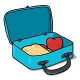 配件箱例证午餐 库存图片
