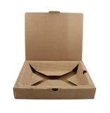 配件箱做的纸板关闭打开 免版税图库摄影