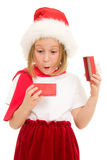 配件箱儿童愉快圣诞节的礼品 库存图片