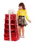 配件箱儿童礼品女孩组 免版税库存照片