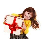 配件箱儿童礼品女孩黄色 库存图片