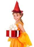 配件箱儿童礼品帽子藏品当事人 免版税库存照片