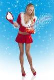 配件箱克劳斯女孩空缺数目圣诞老人 库存图片