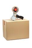 配件箱分配器包装的发运磁带 免版税库存图片
