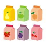 配件箱包装查出的汁液 免版税库存图片