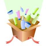 配件箱化妆用品充分的礼品 库存图片