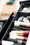 配件箱化妆用品 库存照片