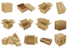 配件箱发运向量 免版税库存图片