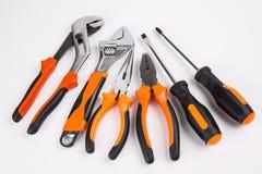 配件箱另外工具箱塑料螺丝刀工具 库存图片