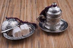 配件箱咖啡杯欢欣土耳其 免版税库存图片