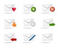 配件箱图标邮件 图库摄影