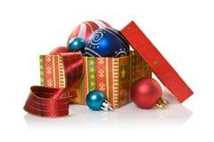 配件箱圣诞节东西 库存照片