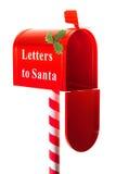 配件箱圣诞节信函圣诞老人 免版税库存图片