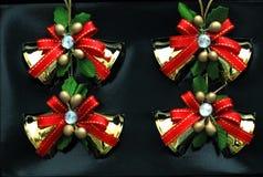 配件箱圣诞节显示装饰品 免版税库存照片