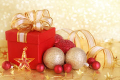 配件箱圣诞节礼品 库存图片