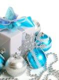配件箱圣诞节礼品 免版税库存图片