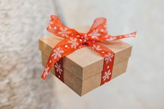 配件箱圣诞节礼物红色 免版税图库摄影